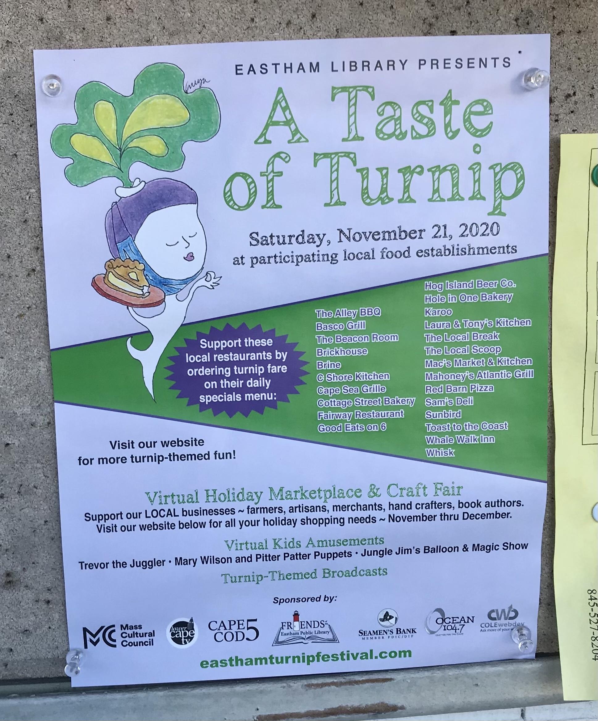 A taste of turnip sign