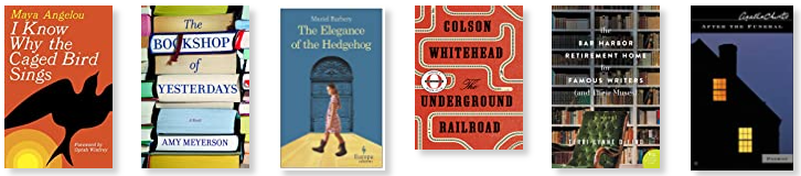 Row 12: I Know Why the Caged Bird Sings | The Bookshop of Yesterdays | The Elegance of the Hedgehog | The Underground Railroad | The Bar Harbor Retirement Home for Famous Writers | After the Funeral
