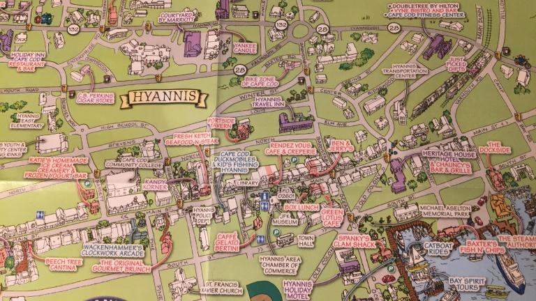 Hyannis town map