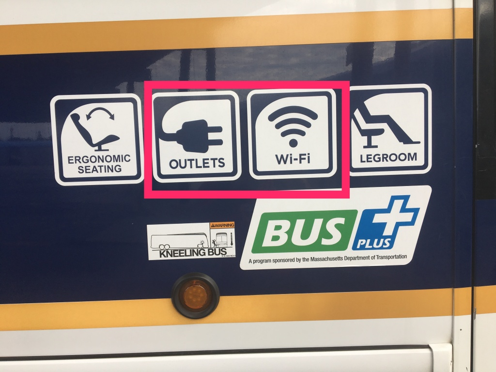 Bus provides free wifi and outlets