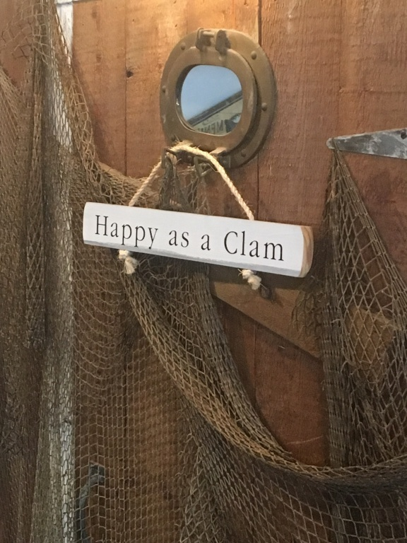 Happy as a clam sign