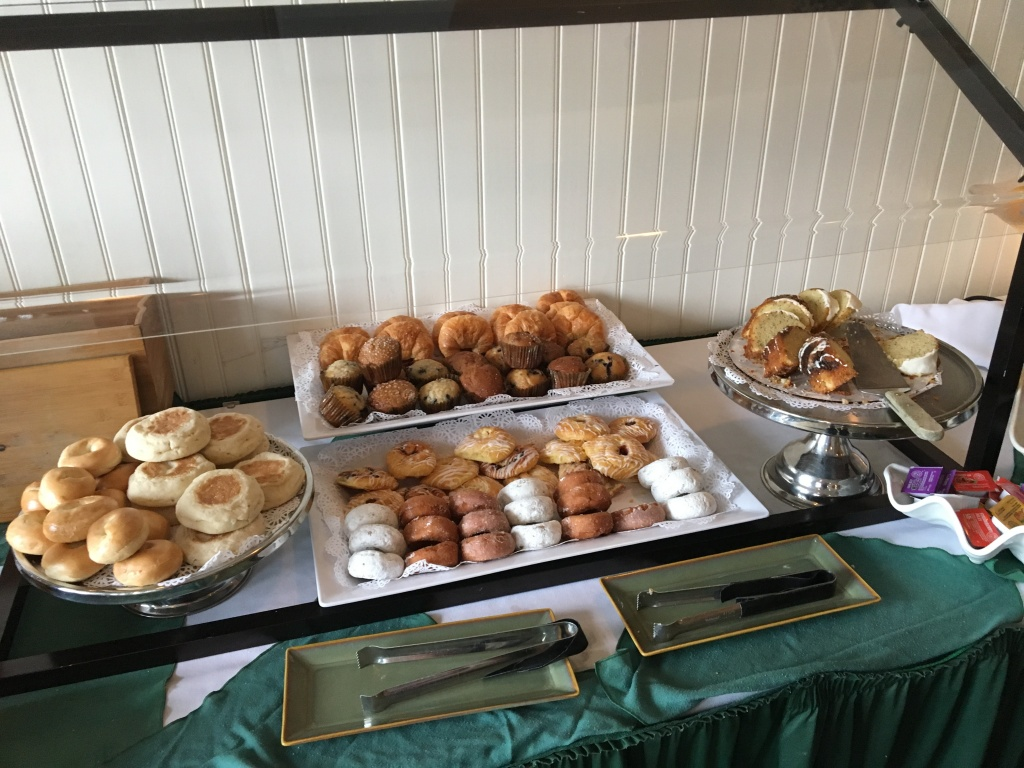 Part of the bread and sweets station