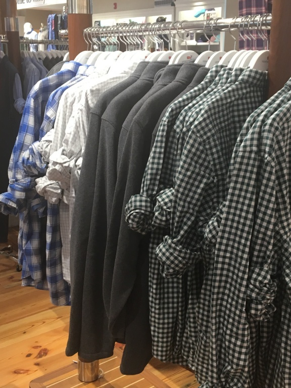 One set of shirts with wrinkled sleeves