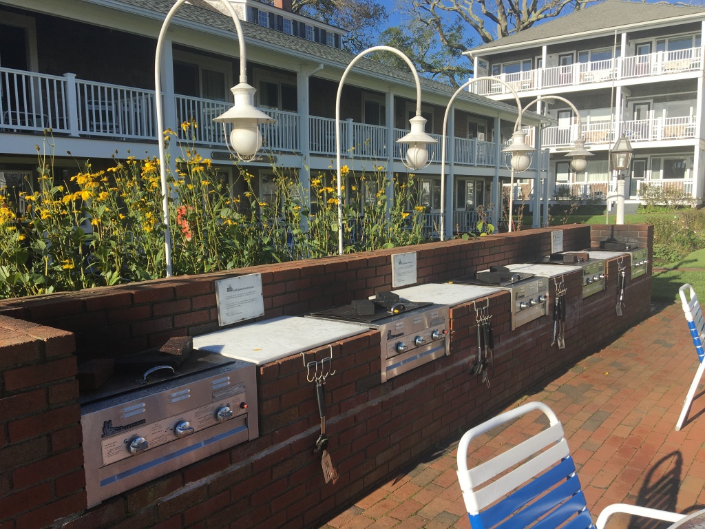 Poolside grills